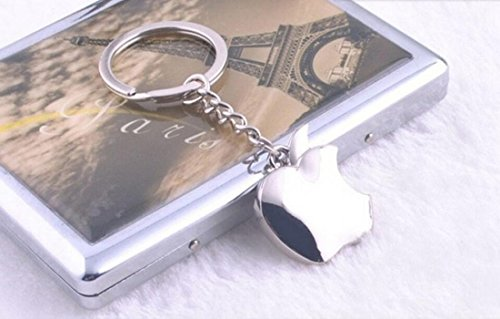 1Pc Superlative Popular Mini Apple Keychain Vintage Pop Key Ring Keyfob Color Silver (Vintage Volkswagen Emblem compare prices)