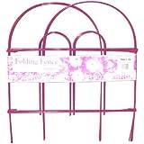 Glamos 770409 18-Inch by 10-Foot Fuchsia Folding Wire Fence