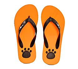 Stroll Womens Casual Eva Flip Flops Orange7 UK