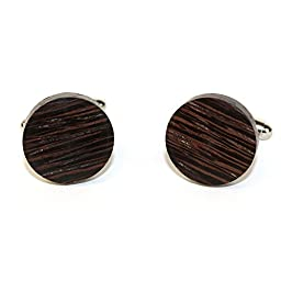 Hand Made Wooden Cuff Links - MADE IN THE USA - variety of colors (Wenge)