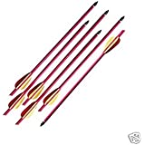 "6 Aluminum Metal Arrows 14"" Long Brand New Crossbow Arrows"