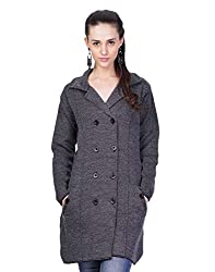 Montrex Grey Designer Long Coat For Women