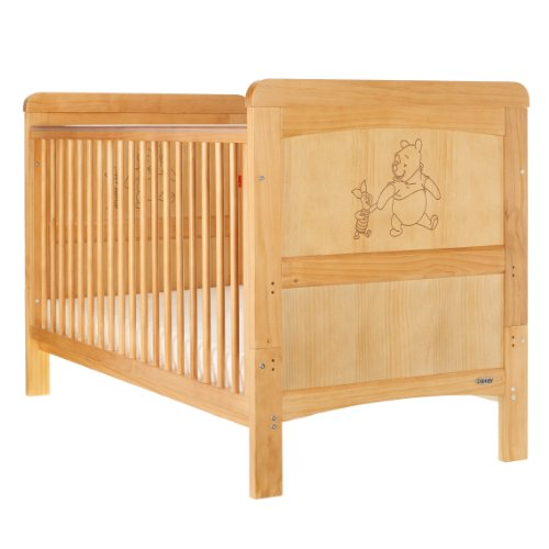 Disney Winnie The Pooh and Piglet Cot Bed (Country Pine)