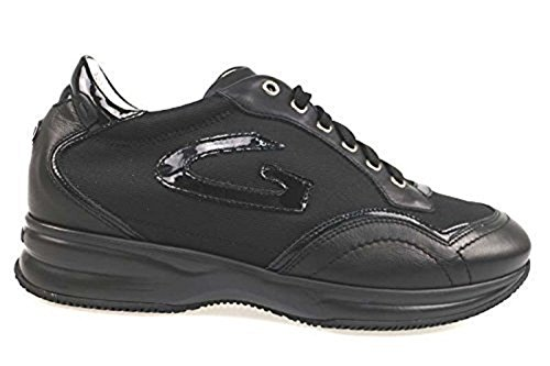 Scarpe donna ALBERTO GUARDIANI 39 sneakers nero pelle tessuto AP789-C