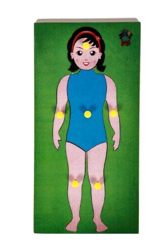Skillofun Parts Of Body Tray, Multi Color