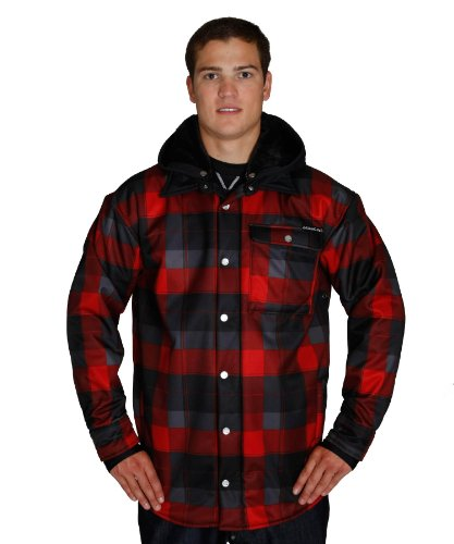 XKZMAAU Sessions Men's Outlaw Plaid Jacket, Red, Small