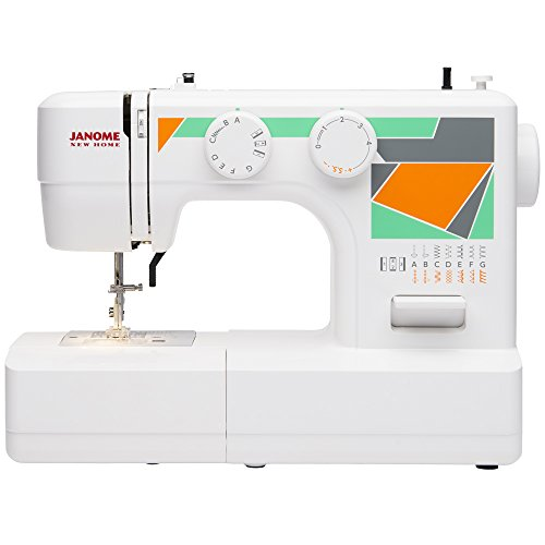 Janome MOD-15 Easy-to-Use Sewing Machine with 15 Stitches, Adjustable Stitch Length and 5-Piece Feed Dogs (15 Piece Sewing Machine Foot compare prices)