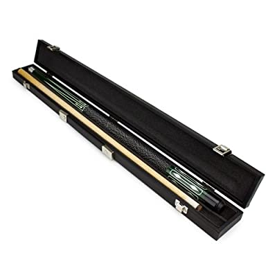 Hard Wood Pool Cue (Green) with Protective Black Case By Felson Billiard Supplies