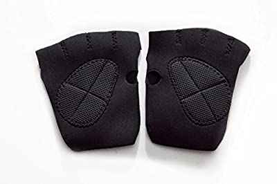 Black Neoprene Cycling Anti Slip GYM Exercise Sport Gloves Weight Lifting Fitness Fitness Sports Half Finger Gloves GYM Weight Lifting Wraps Body Building Workout Exercise Training Absorbing Sport Mitts