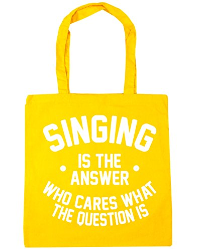 hippowarehouse-singing-is-the-answer-who-cares-what-the-question-is-tote-shopping-gym-beach-bag-42cm