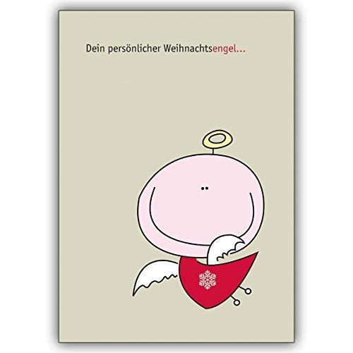 1 Weihnachtskarte: Verschicken Sie zum Weihnachtsfest: Dein persönlicher Weihnachtsengel