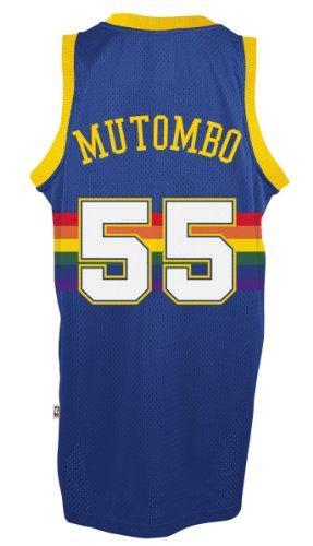 Dikembe Mutombo Denver Nuggets Adidas NBA Throwback Swingman Jersey - Blue