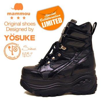 YOSUKE U.S.A×mammou ハイソールスニーカー 24.0cm ブラック