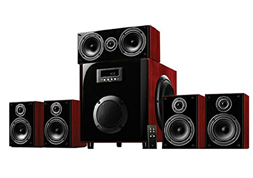 M60-5.1 Stereo Desktop Computer Speakers 5.1 Multimedia Wooden Subwoofer Home Theater Audio