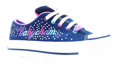 Women's Marina Babycham Navy Lace Up Canvas Baseball Style Shoes
