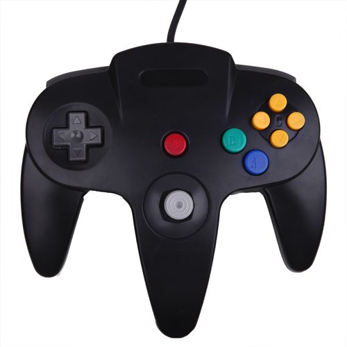 HDE Nintendo 64 Classic Wired Controller (Black)
