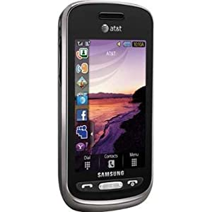 Samsung Solstice A887 Unlocked Phone with Touch Screen, 3G Support, 2MP Camera and GPS - No Warranty - Black
