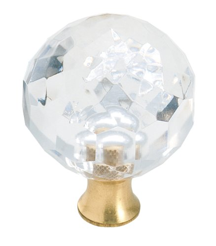 Amerock BP732CS Traditional Classics Knob, Crystal, 1-3/8-Inch