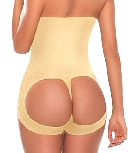SHAPERQUEEN 203 Waist Cincher Girdle Belly Slimmer Trainer Sexy Brief Shapewear Butt Lifter (XS, Nude) (Xsmall Butt Lifter compare prices)