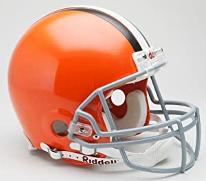 Cleveland Browns Riddell Full Size Authentic Proline Football Helmet by Hall of Fame Memorabilia