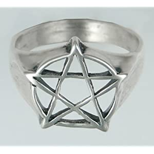 The Ideal Sterling Silver Pentacle Ring Made in America