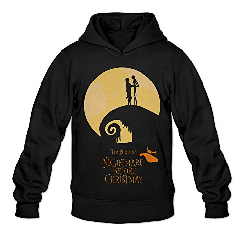 DVPHQ Men's Design The Nightmare Before Christmas Sweater Size L Black (Sally From The Nightmare Before Christmas Costume)