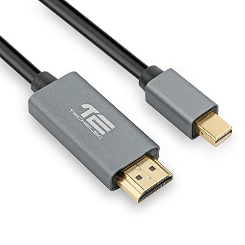 TechElec 1,8M Placcato Oro Mini DisplayPort (ThunderboltTM Port Compatible) su HDTV Cavo HDMI (3D, 1080P)