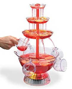 ClearMax Lighted 3-Tiered Party Fountain with 8 Cups - 2-Gallon