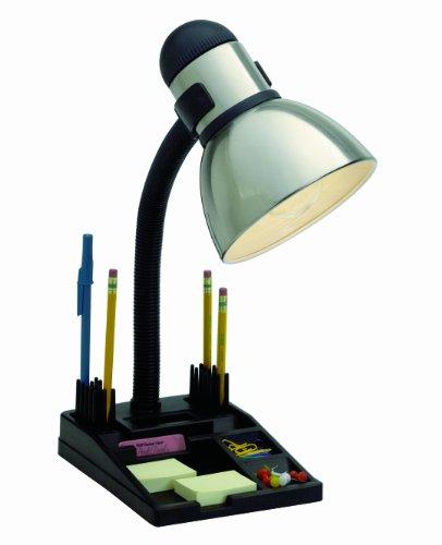 Satco Products SF76/356 Organizer Desk Lamp, Steel/Black