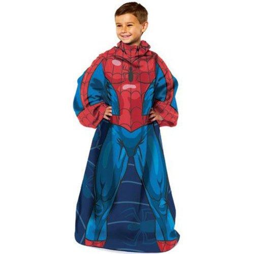 ディズニー 着る毛布 袖付き ブランケット 【comfythrow 】 (スパイダーマン)