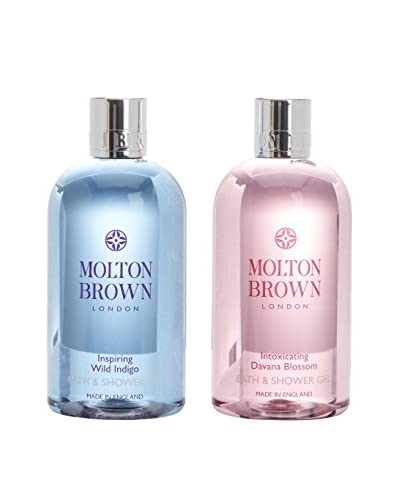 Molton Brown Gel Bagno Doccia 2 Pezzi Inspiring Wild Indigo & Intoxicating Davana Blossom
