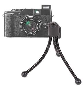 DURAGADGETPetit trépied léger flexible + clip de ceinture pour appareil photo Fujifilm Finepix série X, Real et H dont Real 3D W3, XP20, X-Pro1 et HS10