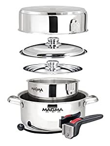 Amazon Com Magma 7 Piece Gourmet Nesting Stainless Steel