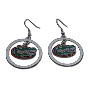 QA-856W-VWV8 - Florida Gators Hoop Logo Earring Set Ncaa Charm