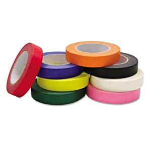 Colored Masking Tape Classroom Pack, 1 Inch x 60 yards, Assorted, 8 Rolls/Pack