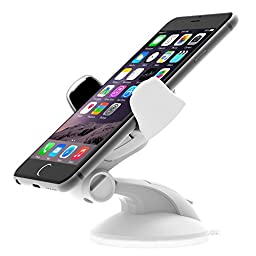 iOttie Easy Flex 3 Car Mount Holder for iPhone 6s/6, Galaxy S7/S7 Edge, S6/S6 Edge - Retail Packaging - White