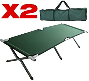 Camping Beds For Tents >> 2 X SINGLE ALUMINUM FOLDING CAMPING BED CAMP GUEST TENT