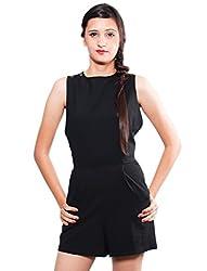 The Style Aisle Women's Jumpsuit (TSA07-A_Black_Large)