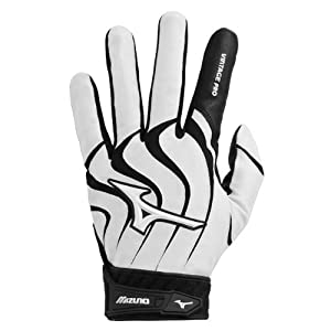 Mizuno Vintage Pro G4 Batting Gloves (Black/White, Large)