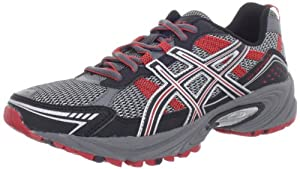 ASICS Men's GEL-Venture 4 Running Shoe,Charcoal/Black/Red,12 M US