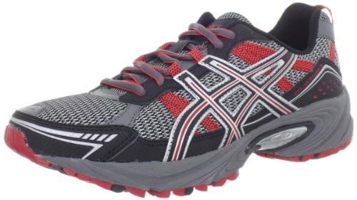 ASICS Men's GEL-Venture 4 Running Shoe,Charcoal/Black/Red,10.5 M US