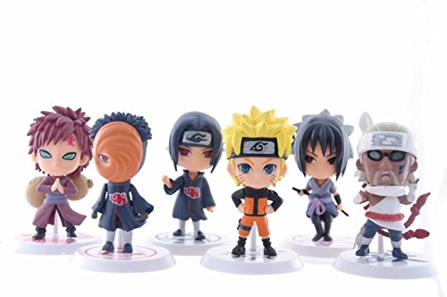 BIGOCT Naruto Figures Set (6 Piece), 2.5