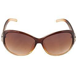 Eyeland Non-Polarized Oval Sunglasses (Brown, EYE233)