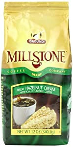 Millstone Hazelnut Cream Decaf Coffee, 12 Ounce (Pack of 6)