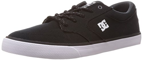 DC Men's Nyjah Vulc TX Nyjah Huston Signature Skate Shoe, Black/White, 13 M US