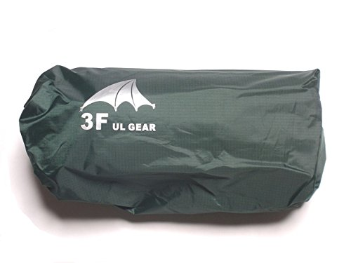 3F UL GEAR 多目的ト 防水マルチシート ダークグリーン カーキ 4m×3m /5m×3m タープ・ピクニックシート・簡易雨具・グランドシート HK&Camper限定 シームテープ5m付 (ダークグリーン, 4m×3m)