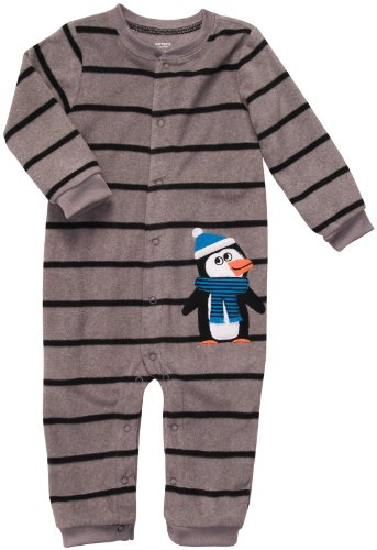 Carter'S Infant Long Sleeve One Piece Coverall - Bundled Up Penguin-6 Months front-163017