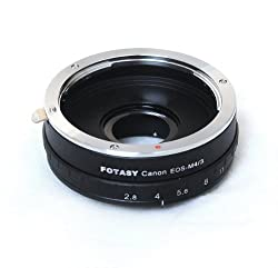 Fotasy AMEA Canon EOS Lens to Micro 4/3 MFT System Camera Mount Adapter with Built-In Aperture Ring