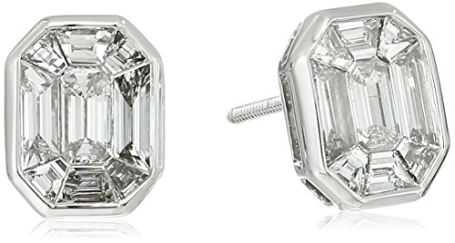 14k-White-Gold-Special-Emerald-Cut-Composite-Solitaire-Earrings-1cttw-H-I-Color-I1-I2-Clarity