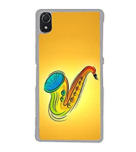 Colourful Saxophone 2D Hard Polycarbonate Designer Back Case Cover for Sony Xperia Z3 :: Sony Xperia Z3 Dual :: Sony Xperia Z3 D6633